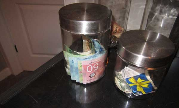 Money in Jars